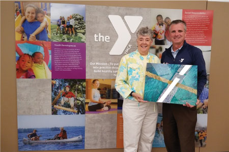 Vicki Morgan with Greg Gack of the YMCA